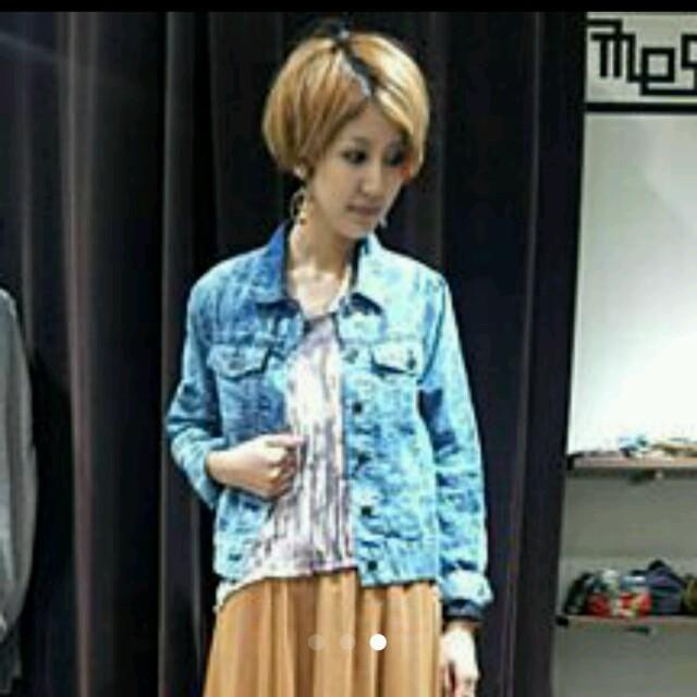 OSMOSIS(オズモーシス)の未使用オズモーシスデニムGジャン、ブルゾン レディースのジャケット/アウター(Gジャン/デニムジャケット)の商品写真