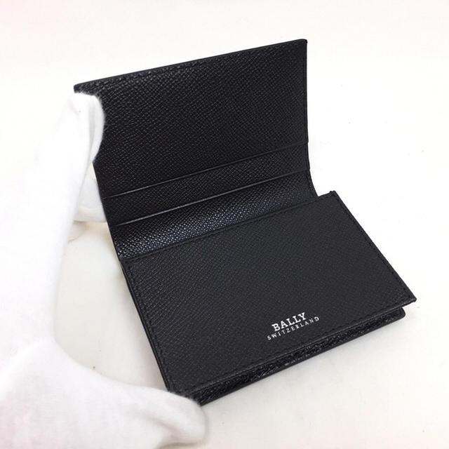 Bally(バリー)のBALLY バリー レザー カードケース 6207475 ブラック メンズのファッション小物(名刺入れ/定期入れ)の商品写真