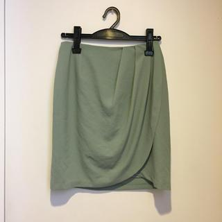 アウラアイラ(AULA AILA)のミントグリーンスカート(ひざ丈スカート)