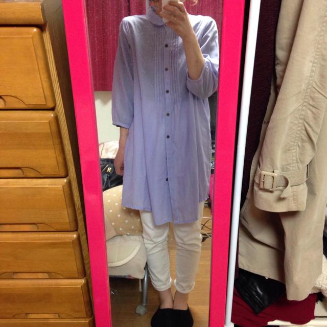ブラウスワンピ 着画有♡ レディースのトップス(シャツ/ブラウス(長袖/七分))の商品写真