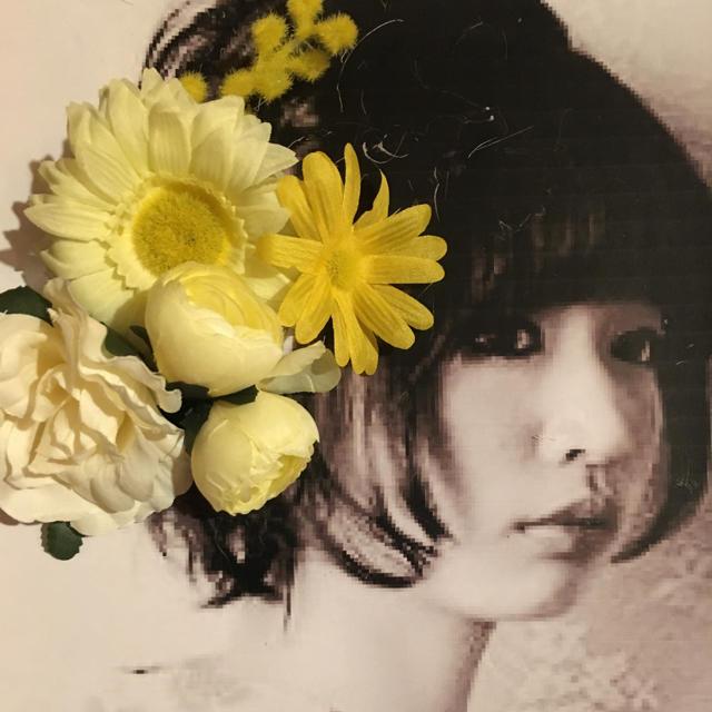 フラワー 髪飾り 6点 イエロー系 レディースの水着/浴衣(和装小物)の商品写真