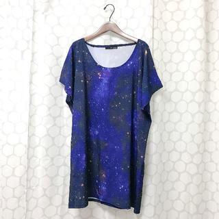 ファンキーフルーツ(FUNKY FRUIT)のギャラクシー柄Tシャツチュニック(Tシャツ(半袖/袖なし))