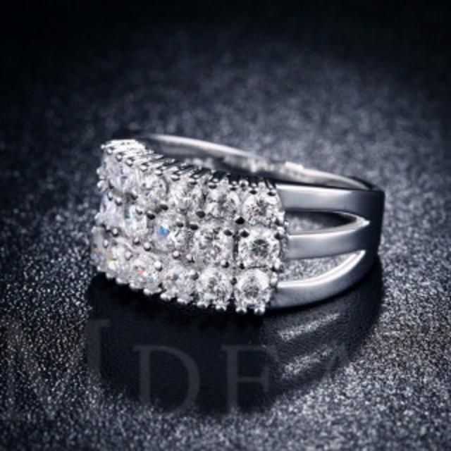20号 【追跡あり発送】 ジルコン ダイヤモンド リング クリスタル A3 レディースのアクセサリー(リング(指輪))の商品写真