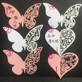 【席札】35円~メッセージカードとしても⭕(型紙/パターン)