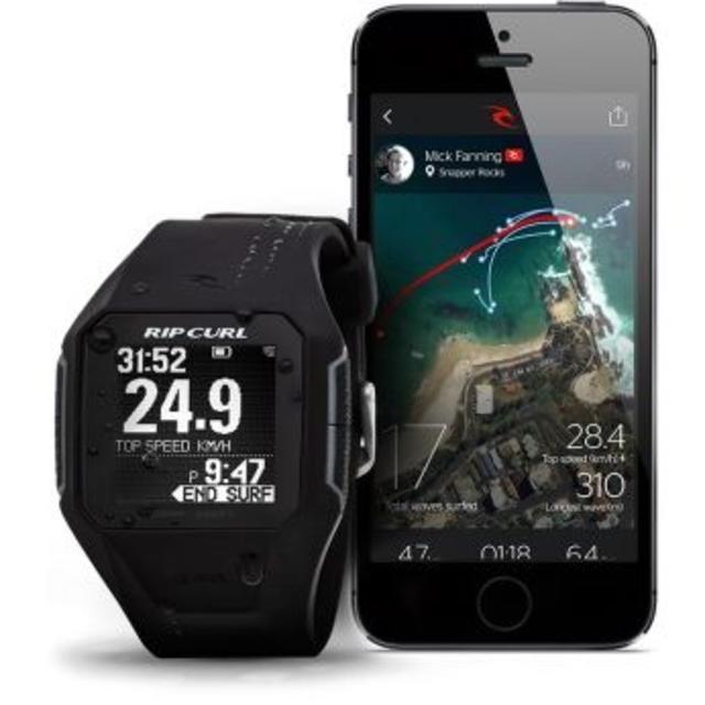 サーファー必須ウォッチ SEARCH GPS リップカール Black メンズの時計(ラバーベルト)の商品写真