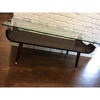 ガラス天板のローテーブル(ローテーブル)