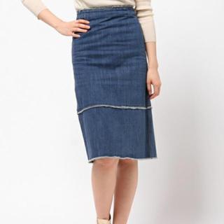ルシェルブルー(LE CIEL BLEU)のルシェルブルー  LECIELBLEU デニム タイトスカート 新品未使用(ひざ丈スカート)