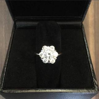 【極美品】ホワイトゴールド ダイヤモンド リング 0.88ct(リング(指輪))