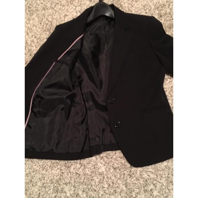 ブラックジャケットスーツ レディースのジャケット/アウター(テーラードジャケット)の商品写真