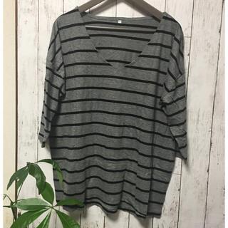 ムジルシリョウヒン(MUJI (無印良品))のストライプ ラグラン袖シャツ 無印用品(Tシャツ(長袖/七分))