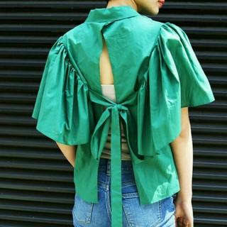 アメリヴィンテージ(Ameri VINTAGE)のAmeri VINTAGE バックスリットシャツ(Tシャツ(半袖/袖なし))