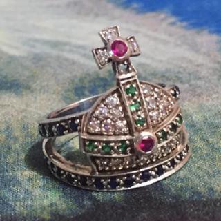 ヴィヴィアンウエストウッド(Vivienne Westwood)のマルチカラーオーブリング 11号(リング(指輪))