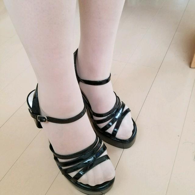 サンダル レディース 黒 レディースの靴/シューズ(サンダル)の商品写真
