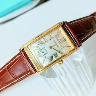 the latest a5682 daed3 美品 ハミルトン 18金張り スクエアフェイス 新品ベルト レディース 腕時計 | フリマアプリ ラクマ