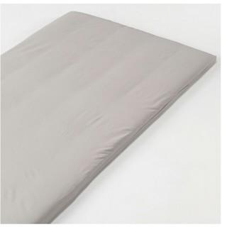 ムジルシリョウヒン(MUJI (無印良品))の無印良品 高密度サテン織 ホテル仕様 敷ふとんカバー グレー シングル(シーツ/カバー)