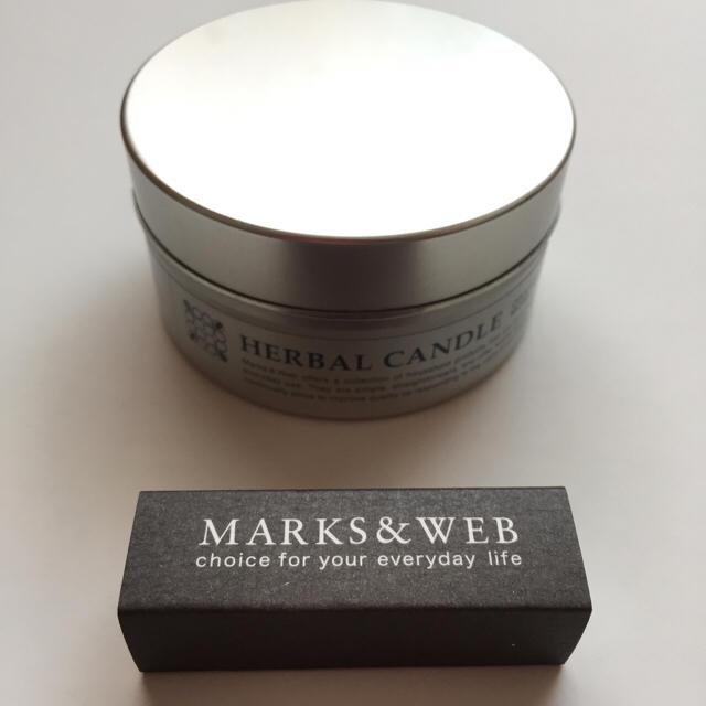 MARKS&WEB(マークスアンドウェブ)のMARKS&WEB HERBAL CANDLE ハンドメイドのインテリア/家具(アロマ/キャンドル)の商品写真
