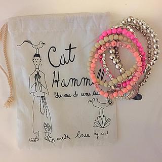キャットハミル(CAT HAMMILL)のCAT HAMMILL♡エンジェルチャーム&ハートブレスレット(ブレスレット/バングル)