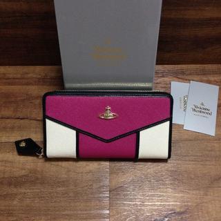 ヴィヴィアンウエストウッド(Vivienne Westwood)の長財布 Vivienne Westwood ピンク/ホワイト(財布)