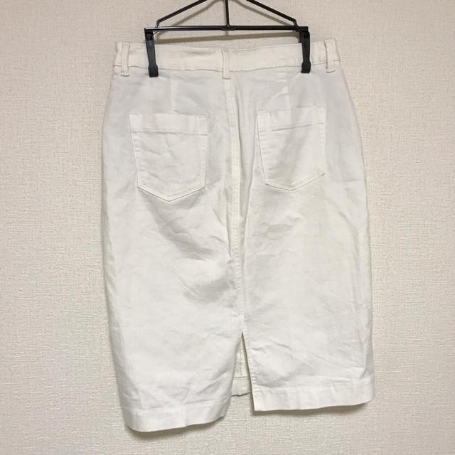 UNIQLO(ユニクロ)のUNIQLO ユニクロ ストレッチ タイトスカート ホワイト ベーシック 無印 レディースのスカート(ひざ丈スカート)の商品写真