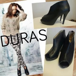 デュラス(DURAS)のDURAS オープントゥブーティ(ハイヒール/パンプス)
