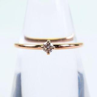 新品☆K10PG ダイヤモンド リング 9号[718-3](リング(指輪))