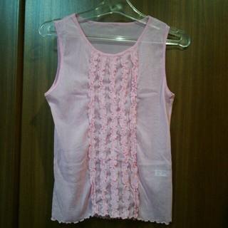 ワコール(Wacoal)の新品  ワコールのピンクシースルートップス(カットソー(半袖/袖なし))