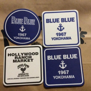 ブルーブルー(BLUE BLUE)のBLUE BLUE★ハリウッドランチマーケット★コースター4種セット(その他)