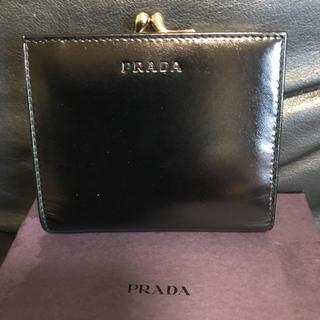 プラダ(PRADA)のゆープロフ確認お願い様専用です。プラダ☆ レザーがま口折財布(財布)