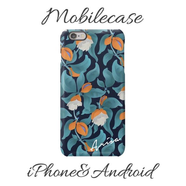 グッチ iphone7 ケース tpu | 名入れ可能♡エメラルドオレンジ花柄スマホケース♡iPhone以外も対応機種多数!の通販 by welina mahalo|ラクマ