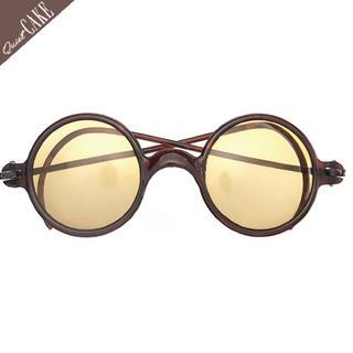 40s UKビンテージ イギリス製ラウンドサングラス 丸メガネ丸サングラス407(サングラス/メガネ)