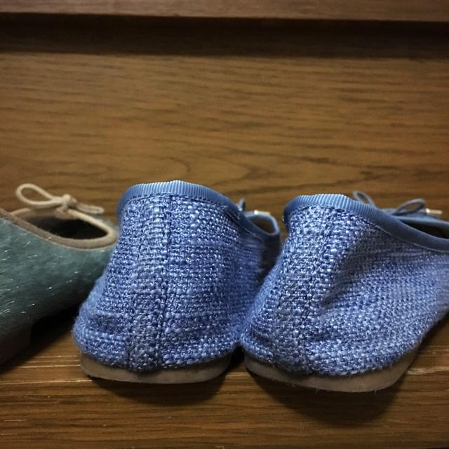ORiental TRaffic(オリエンタルトラフィック)のブルー系フラットパンプス2足セット レディースの靴/シューズ(ハイヒール/パンプス)の商品写真