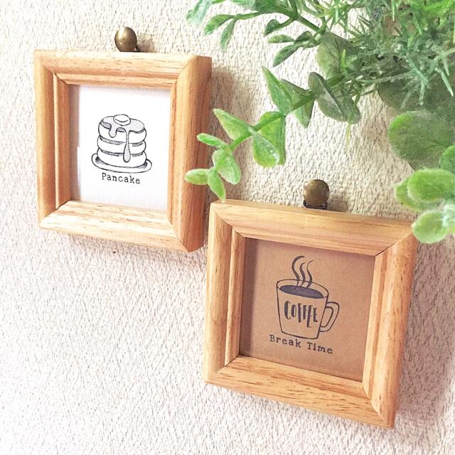 選べる♪手書き風モノクロイラストのフレーム ハンドメイドのインテリア/家具(インテリア雑貨)の商品写真
