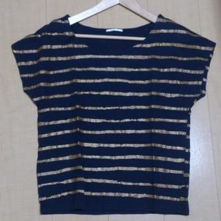 シップスフォーウィメン(SHIPS for women)のSHIPS★ラメボーダーカットソー(Tシャツ(半袖/袖なし))