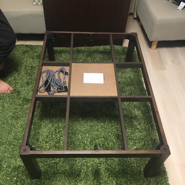 MUJI (無印良品)(ムジルシリョウヒン)のちっちこ様 無印良品 家具調こたつ&デニム地布団 インテリア/住まい/日用品の机/テーブル(こたつ)の商品写真