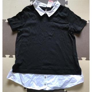 シマムラ(しまむら)のトップスレディース襟ビジューつき(カットソー(半袖/袖なし))
