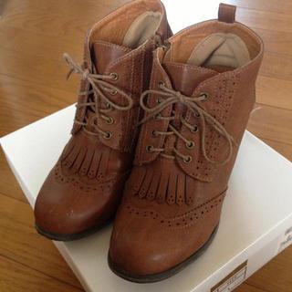 ブーツ*ブラウン*25cm(ブーツ)