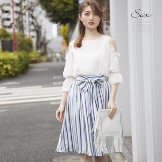 トッコ(tocco)のtocco完売マルチストライプスカート♡(ひざ丈スカート)