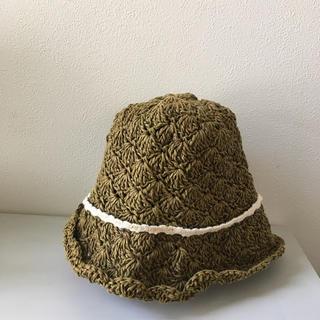 かこさま☆無印良品 折りたためる 麦わら帽子