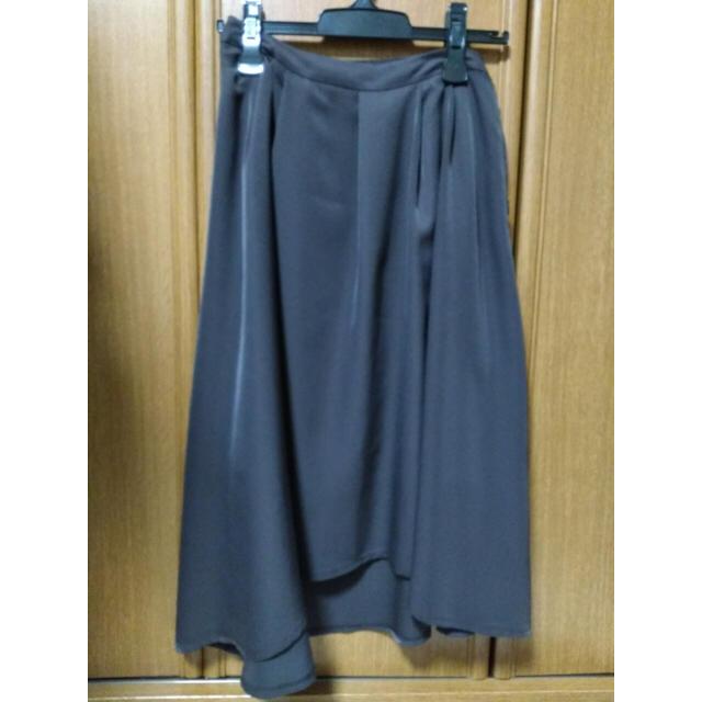 ブラウンアシンメトリースカート レディースのスカート(ひざ丈スカート)の商品写真