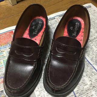ブラウン 23.5 ローファー 学生 制服(ローファー/革靴)