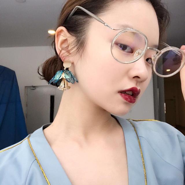 mako様 専用 ブルー ピアス メンズのアクセサリー(ピアス(両耳用))の商品写真