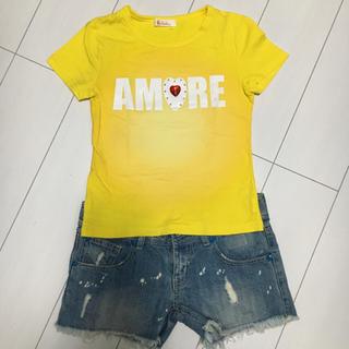 イリーデ(Ra Iride)の【新品未使用】Ra Iride AMORE イエロー Tシャツ♡(Tシャツ(半袖/袖なし))