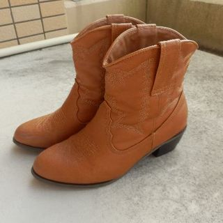 シマムラ(しまむら)のウェスタンブーツ ショートブーツ 【使用数回】(ブーツ)