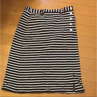 ママイクコ   ボーダースカート(ひざ丈スカート)