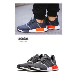 アディダス(adidas)のadidas/NMD R1/GREY/RED【アディダス【グレー【S31510】(スニーカー)