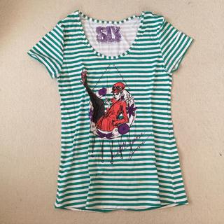 スライ(SLY)のSLY 細ボーダー Tシャツ グリーン 緑 スライ(Tシャツ(半袖/袖なし))