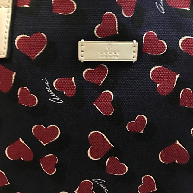 85285338024a Gucci - GUCCI ハート柄キャンバストートバッグの通販 by E's Closet ...