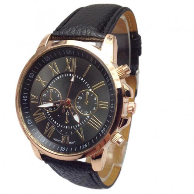 ☆クロノグラフデザイン☆超人気腕時計♪/ブラック レディースのファッション小物(腕時計)の商品写真