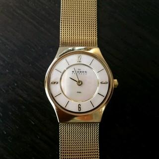 スカーゲン(SKAGEN)のSKAGEN スカーゲン ゴールド 腕時計 ステンレス デンマーク(腕時計)