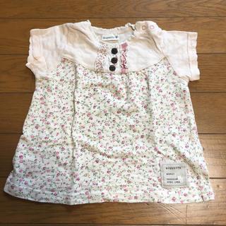 ビケット(Biquette)のBiquette 半袖シャツ90size(Tシャツ/カットソー)